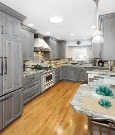 Gray Stained Kitchen Cabinets Grey Stained Oak Home Design Ideas Pictures Remodel And Decor