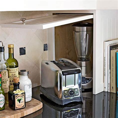 40 Clever Storage Ideas For A Small Kitchen Kitchen Appliance Cabinet Storage