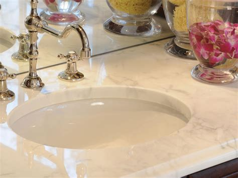 how to remove stains from bathroom countertops choosing bathroom countertops hgtv