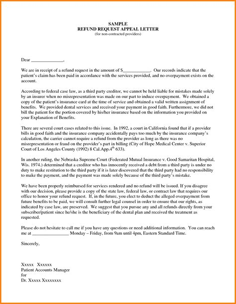 appeal letter template sle insurance appeal letter for no authorization best