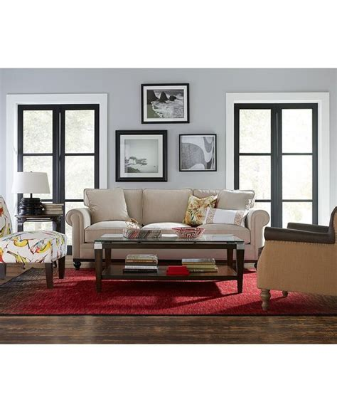martha stewart living room furniture martha stewart collection new club fabric roll arm sofa