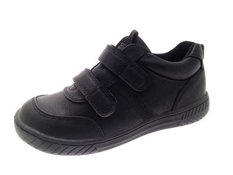 school shoes size 12 boys black faux leather school shoes lace up sports