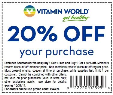 vitamin shoppe coupons top deal 10 off promo codes vitamin world coupons 2017 2018 best cars reviews