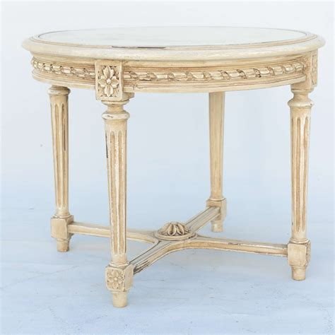 round mirrored accent table round painted louis xvi style accent table with mirrored