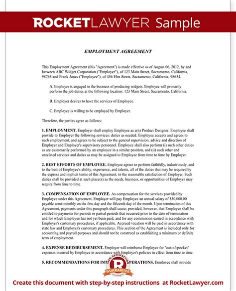 employment agreement employment agreement