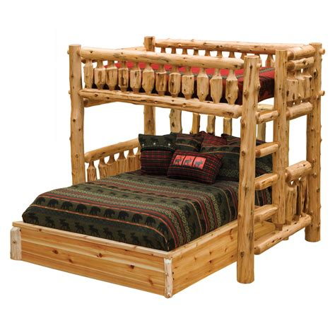 log bed cedar log single loft bed