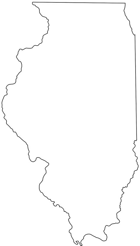 coloring page map of illinois illinois map silhouette free vector silhouettes
