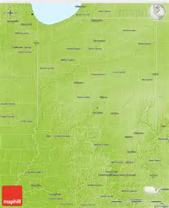 physical 3d map of indiana