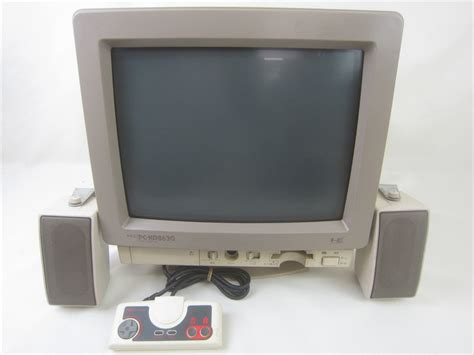 nec console pc engine console nec pc kd863g system color display
