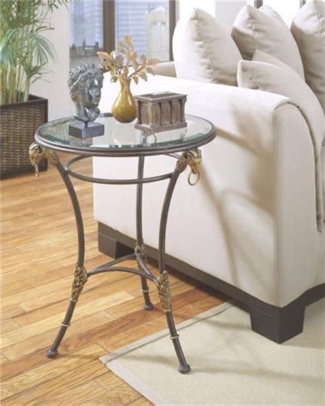 metal accent table with glass top glass top metal accent table