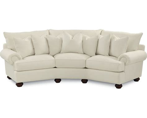 wedge sofas portofino wedge sofa panel arm bun foot thomasville