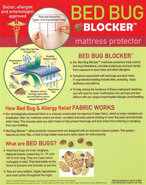 Original Bed Bug Blocker Zippered Mattress Protector by Bed Bug Protector Size 160x200cm Terry Waterproof Mattress