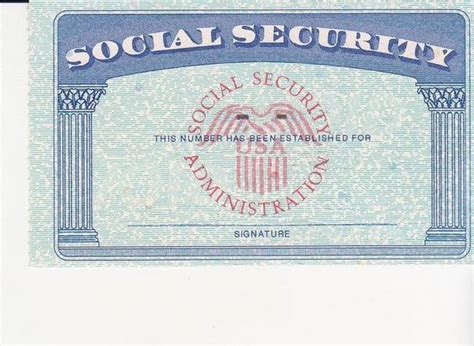 social security card blank template social security card ssc blank color by mprgomes ideas