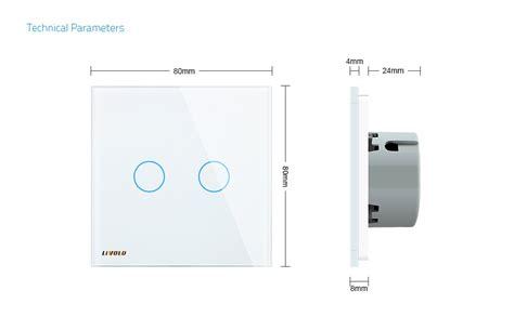 18pcs Saklar On 2 Pin 2 Kaki 10a 250vac livolo 2 1 way wall touch switch white glass
