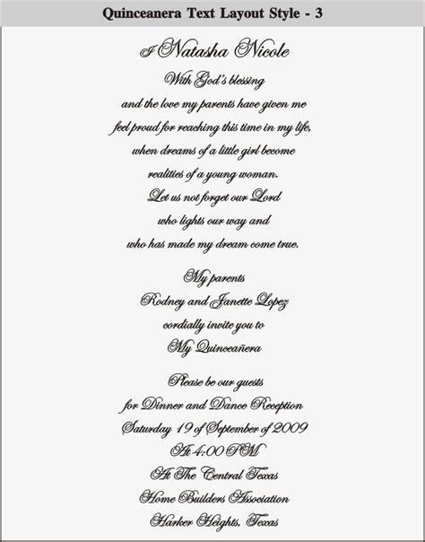 quinceanera invitation wording christmanista com