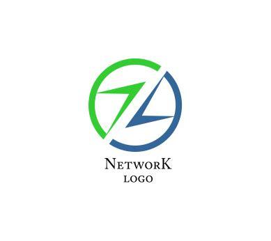 logo design letter z network web z letter alphabets vector logo download web