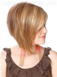 angled bob haircut angled layered haircuts