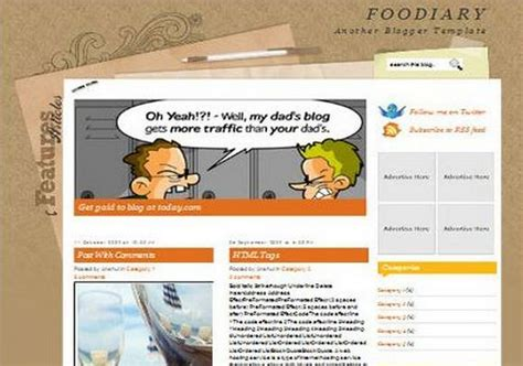 science templates for blogger foodiary blogger template 2014 free download