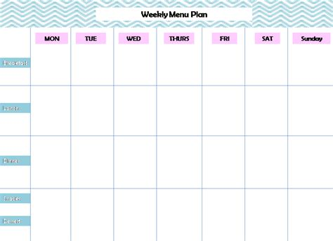 weekly menu templates weekly menu planning printable pursuit of functional home
