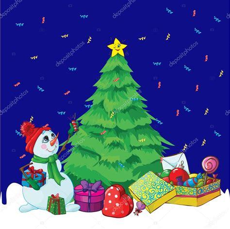 imagenes vectoriales de navidad dibujos animados con 225 rbol de navidad y un mu 241 eco de nieve