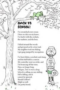 Back to school poems