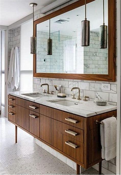 vanity countertop ideas stylish bathroom mid century