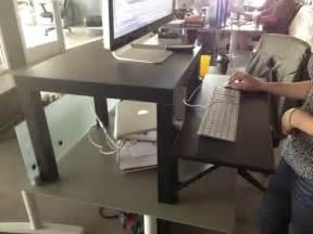 Cheap Standing Desk Ikea Standing Desk Improvisation Inspiration With Perspiration Stuffandymakes