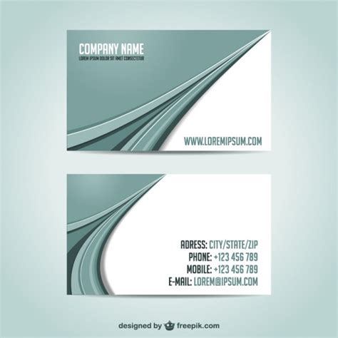 Kostenlose Vorlage Visitenkarten Visitenkarten Vorlage Kostenlos Downoad Der Kostenlosen Vektor