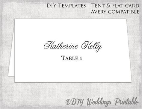 Place Card Template Tent Flat Name Card Templates Tent Card Template Word