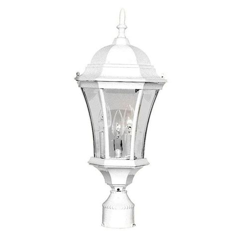 Post Light Fixture Acclaim Lighting Brynmawr 3 Light Textured White Outdoor Post Mount Light Fixture 5027tw The
