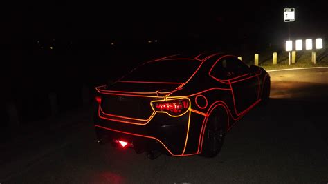 Frs Lights A Tron Inspired Car Using Reflective Tape