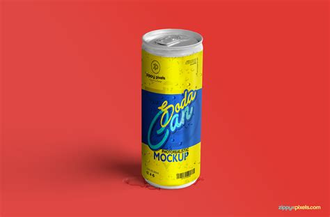 Cool Packaging Soda by Free Soda Can Mockup Zippypixels