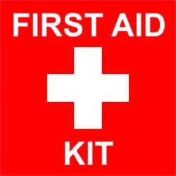 first aid kit with medical symbol engraved sign 6 quot x 6