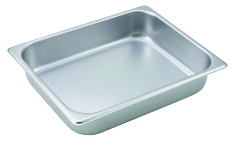 steam pan size chart winco sph2 half size steam pan 2 1 2 quot deep