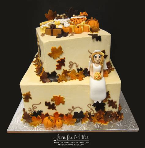 fall bridal shower cake pictures autumn bridal shower cake by artediamore on deviantart