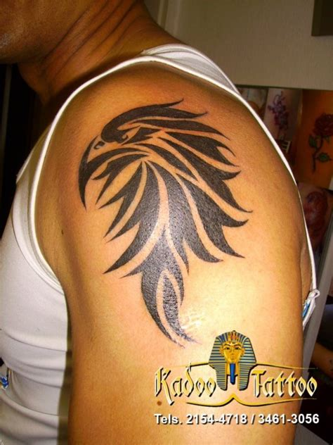 left shoulder tribal tattoo tribal eagle on left shoulder