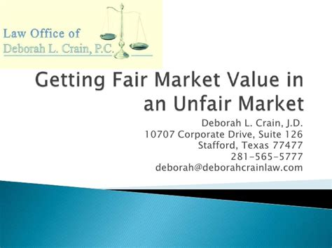 how to get fair market value in an unfair market