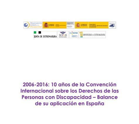 ley de discapacidad 2016 aranceles pdf 2006 2016 10 a 241 os de la convenci 243 n internacional