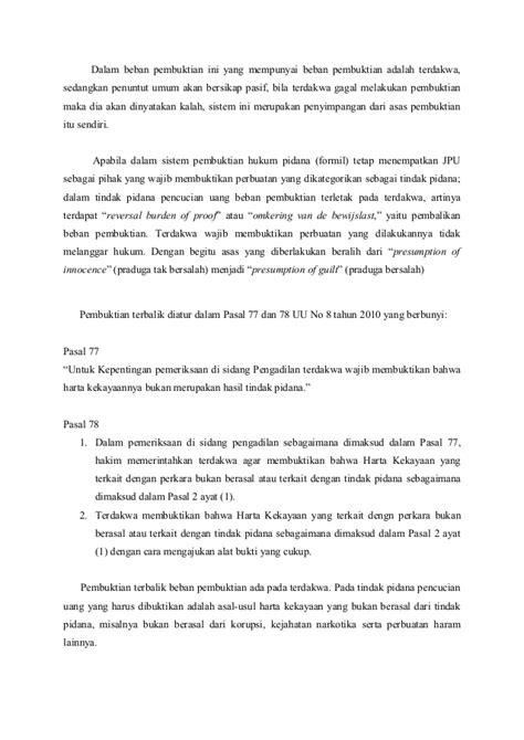 Hukum Pidana Positif Penghinaan Adami Chazawi pembuktian terbalik pada tindak pidana pencucian uang
