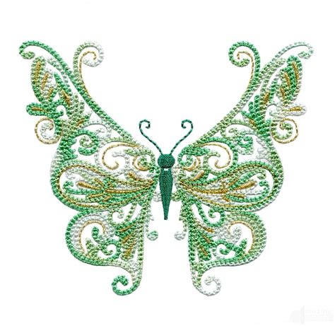 embroidery design butterfly full wing fanciful butterfly embroidery design