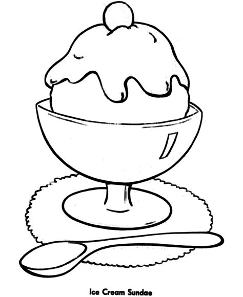 cute simple coloring pages shapes coloring pages printable ice cream sundae easy