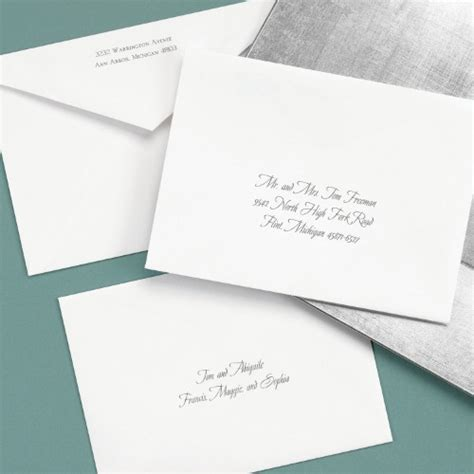 addressing wedding invitations with one outer envelope what s the difference between inner and outer envelopes