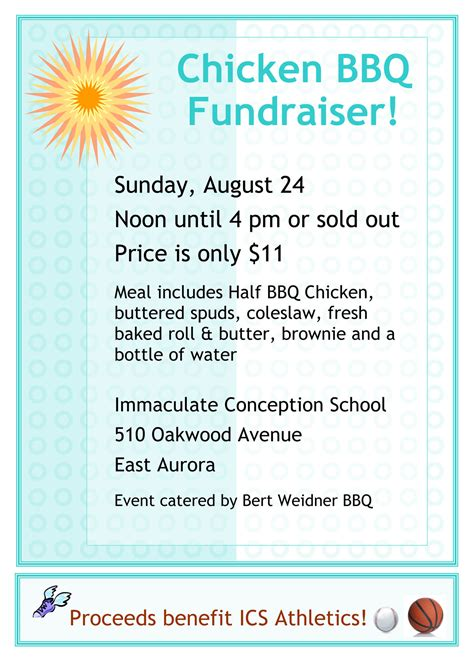 bbq fundraiser flyer template