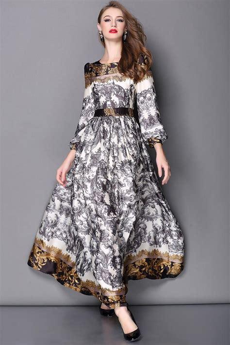 Maxi Rayon Bunga high quality designer runway fashion maxi dress s