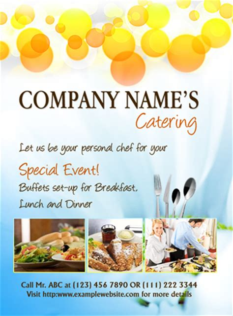 free templates for catering flyers ms word catering flyer template office templates online