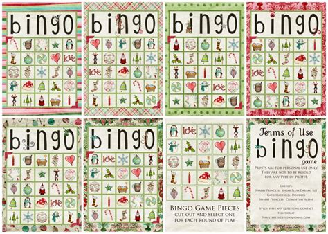 printable christmas bingo game cards top 5 free pinterest christmas printables and print outs