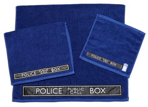 doctor who 3 piece bath towel set thinkgeek