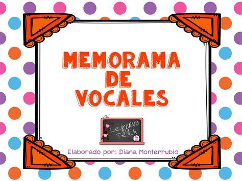 imagenes educativas las vocales memorama de las vocales 1 imagenes educativas