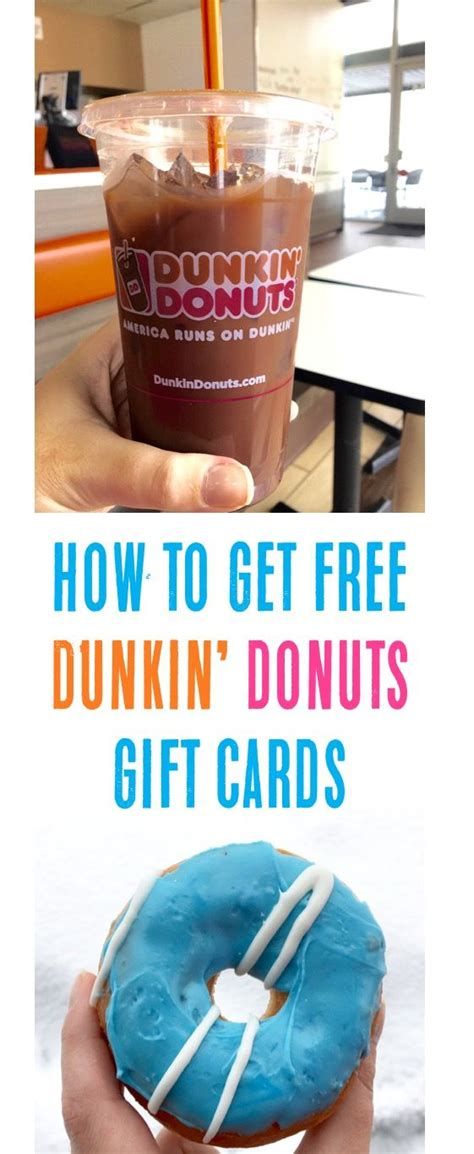 Dunkin Donuts Gift Card Coupons - money saving tips how to get a free dunkin donuts gift