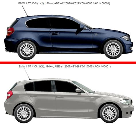 Bmw 1er Unterschiede by E8x Hsn Tsn Bmw 1er 2er Forum Community